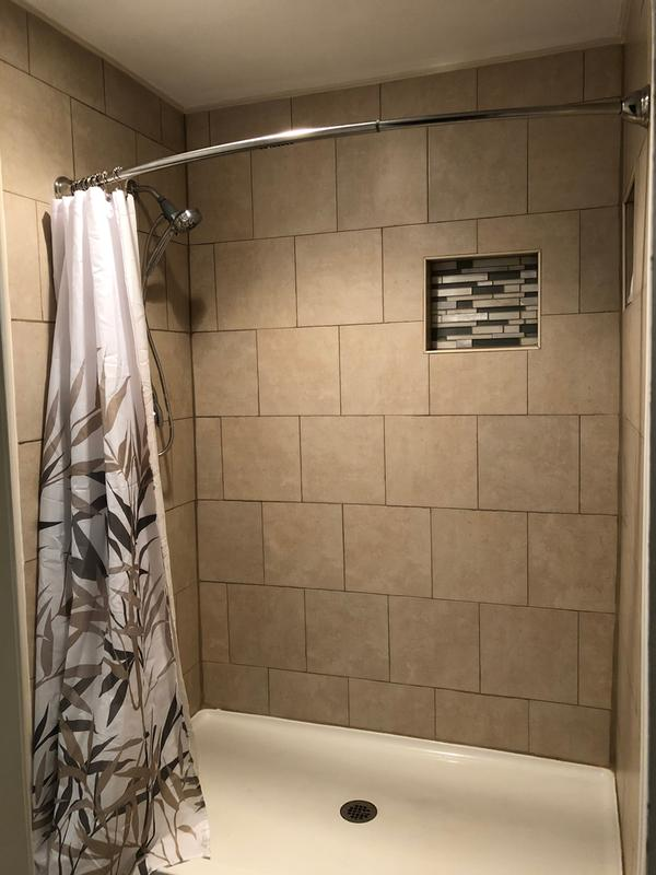 Curved Shower Rods Rod, How To Install A Curved Tension Shower Curtain Rod