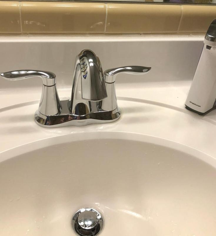 Eva Chrome Two Handle High Arc Bathroom Faucet 6410 Moen
