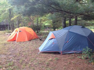 Nimbus 5 beside Monadnock & MEC Nimbus Tent