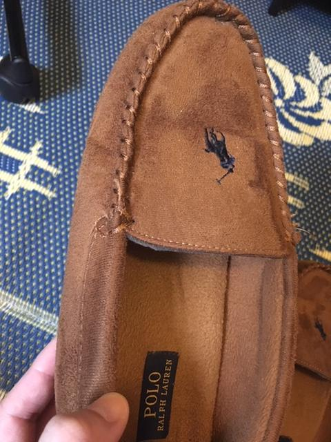 06df4b23 Polo Ralph Lauren Dezi II Tan Moccasin Slippers