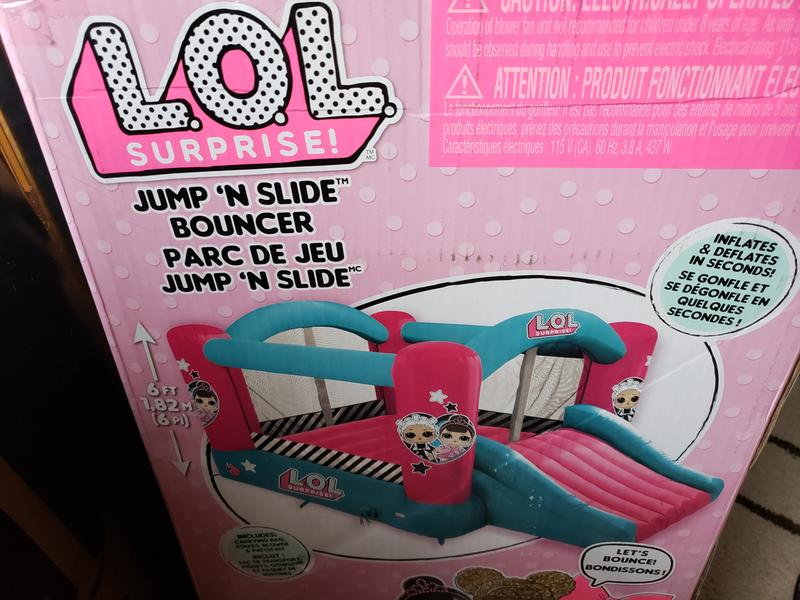 L O L  Surprise! Jump 'n Slide Bouncer   Little Tikes