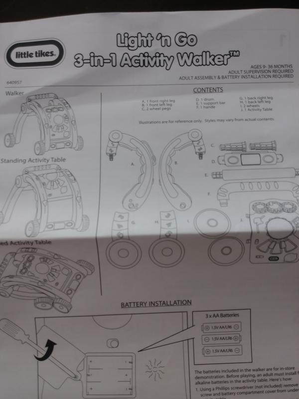 Light N Go 3 In 1 Activity Walker Little Tikes