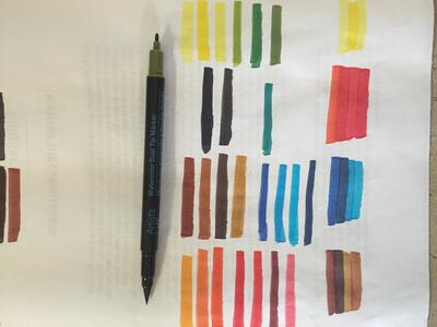 Artists Loft Watercolor Markers Dual Tip 48 Colors