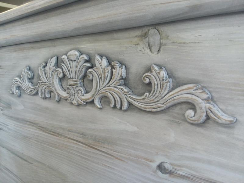 Clic Grey Stain Over A White Wash Lacquer Paint