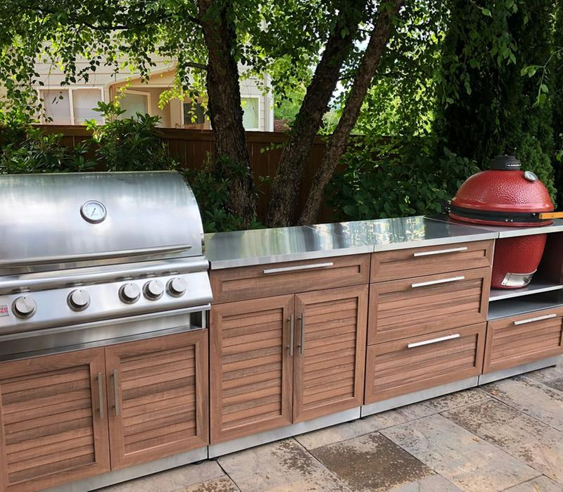 Outdoor Kitchen Stainless Steel Kamado Cabinet Newage Products