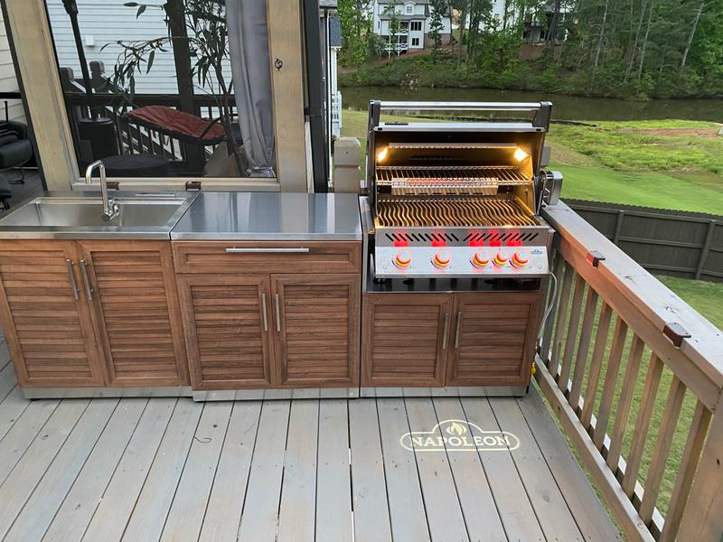 Outdoor Kitchen Stainless Steel 3 Piece Cabinet Set Newage Products