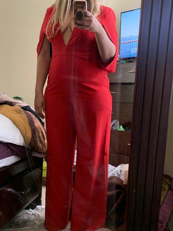 95e968cf NY&C: Red Cape Jumpsuit - Gabrielle Union Collection