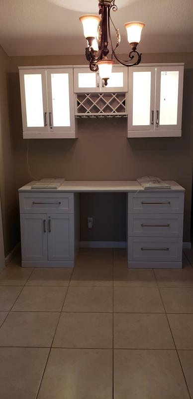 Shaker Style Bar Cabinets 6 Piece Set