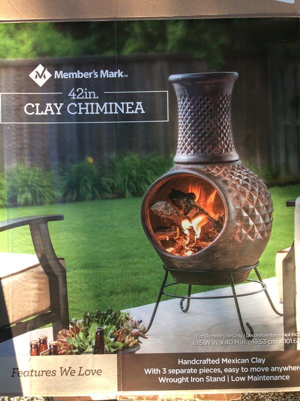 Member S Mark 42 Clay Chiminea Sam S Club