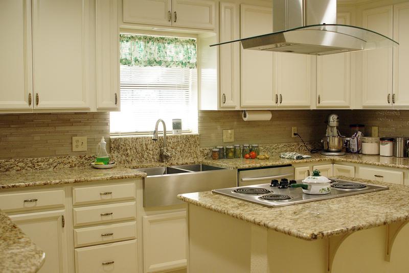 White Painted Espresso Kitchen Cabinets Dominion Collection