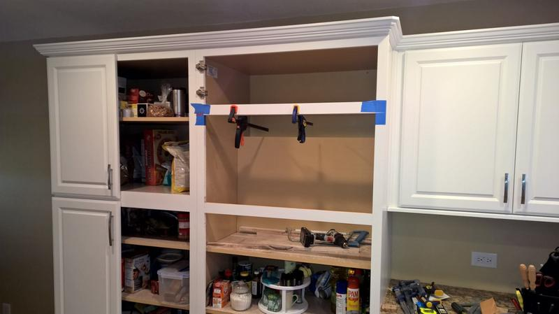 I Modified A Standard Tall Pantry Cabinet To House My Over The Range  Microwave