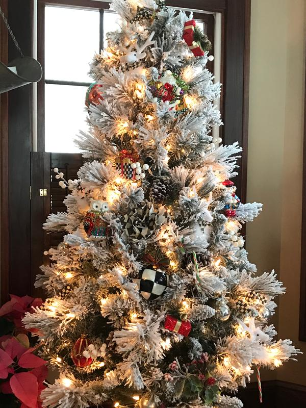 Mackenzie Childs Christmas Ornaments.Mackenzie Childs 7 5 Handmade Mouth Blown Dashing Santa Glass Ornament