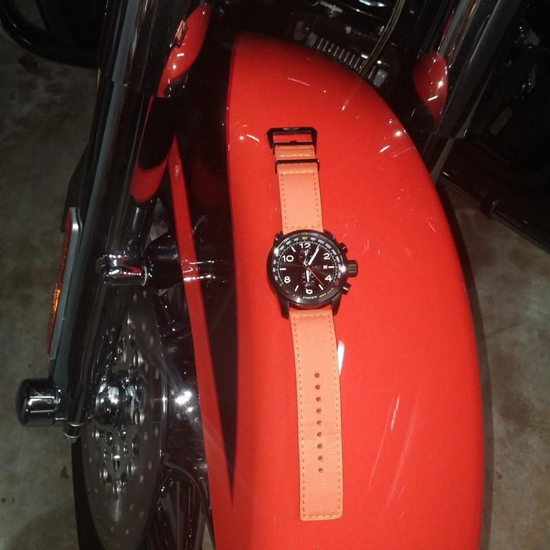 ec98ecd3d Invicta 50mm Aviator Quartz Chronograph Nylon Strap Watch w/ Three ...