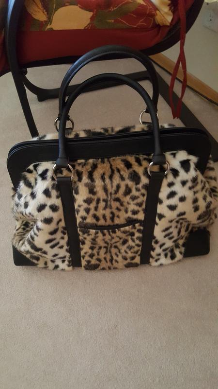 addf171f8356 Donna Salyers  Fabulous-Furs Faux Fur Double Handle Weekender Bag ...