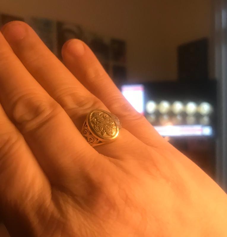 da3625cfc Stefano Oro 14K Gold Italian City Crest Filigree Signet Ring, 2.7 ...