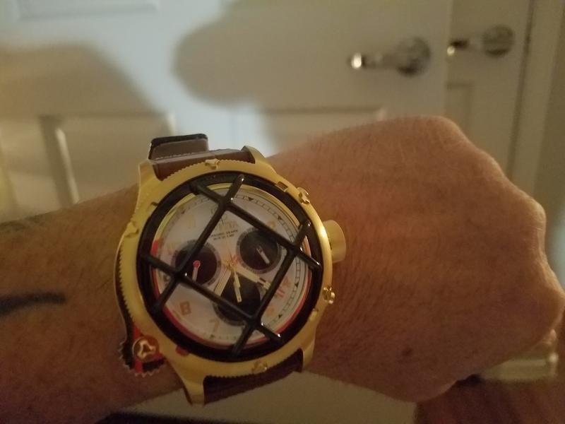 cdce7e85e Invicta Men's 52mm Russian Diver Quartz Chronograph Leather Strap ...