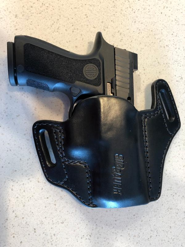 P320C/CA(RX) OWB Leather Holster - Mitch Rosen