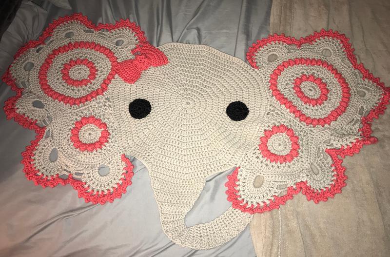Baby rugs - Elephant rug, crochet elephant, crochet elephant rug ... | 527x800