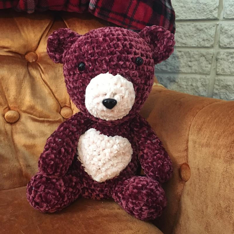Hayfield Bear Toy Crochet Pattern in Baby Chunky 4836P PDF | 800x800