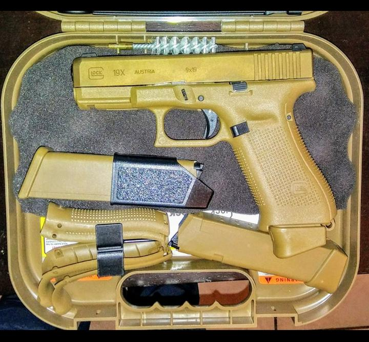 Glock 19x Semi Automatic 9mm 4 02 Barrel Coyote Brown 19 1 Rounds