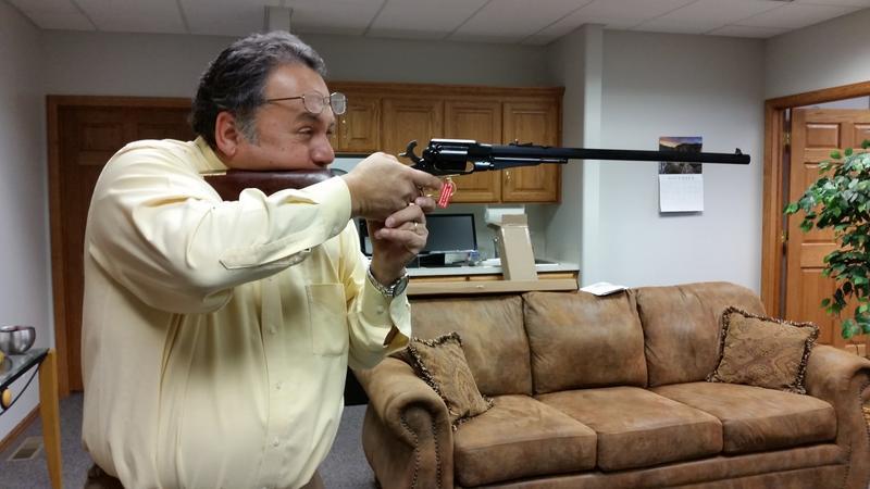 Uberti Reproduction Remington 1858 New Army  44 Revolving Target Carbine  Black Powder Rifle