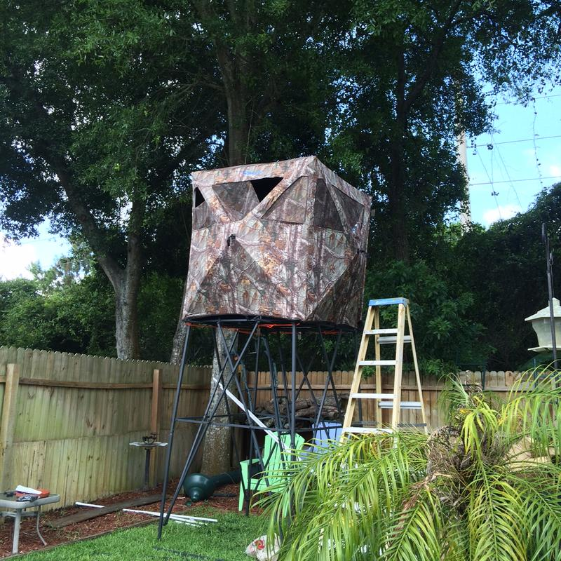 homemade deer raised hunting elevated plans blind blinds luxury