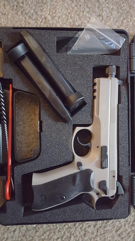 CZ-USA CZ 75 SP-01 Tactical Urban Grey Suppressor-ready, Semi-Automatic,  9mm, 4 72