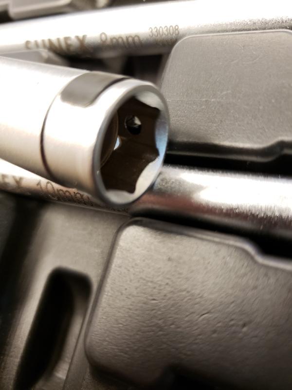 Glow Plug Socket Set 3Piece Universal Joint Sunex 3303GP 3//8 Drive