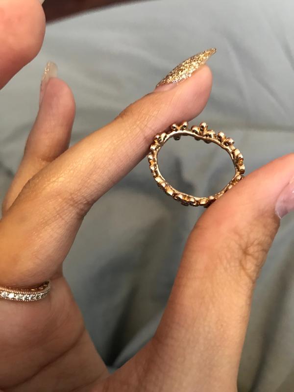 32299eb47 Dazzling Daisy Pandora Ring Rose Gold - New Image Ring Aintnoneed.Org