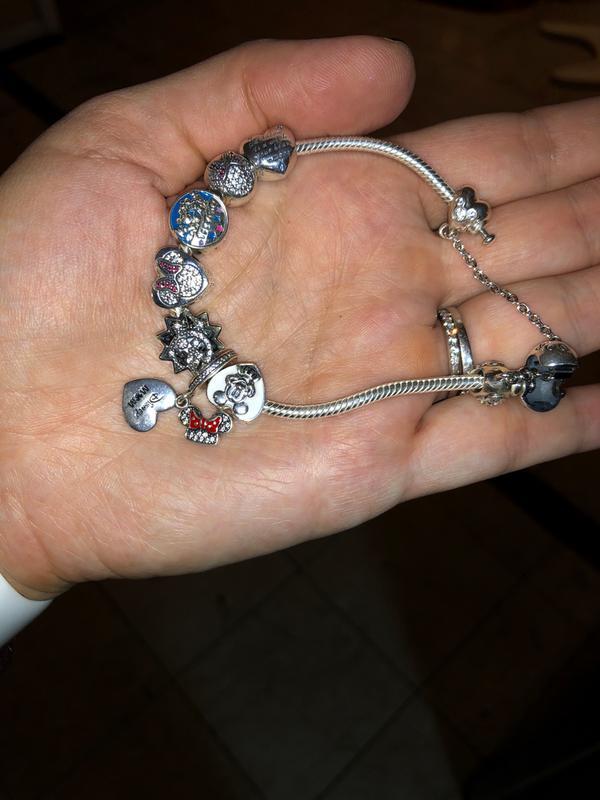 Disney Cinderella S Dream Charm Fancy Light Blue Cz Silver