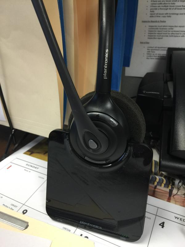 Plantronics W740-M Savi Wireless Headset System New Battery TESTED Ready-to-Go
