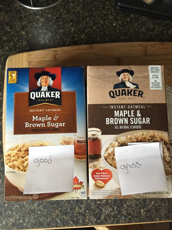 Instant Oatmeal: Maple & Brown Sugar