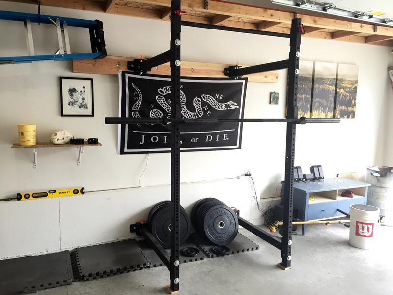 Rogue squat rack folding cosmecol