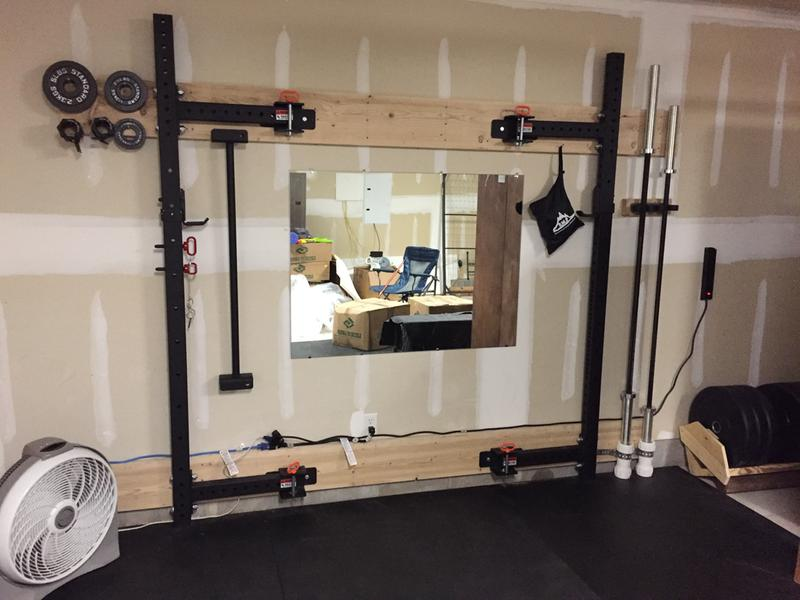 Rogue r 3w fold back wall mount rack made in the usa rogue fitness