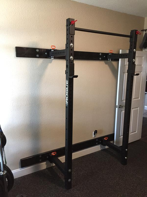 Rogue rml w fold back wall mount rack made in the usa rogue