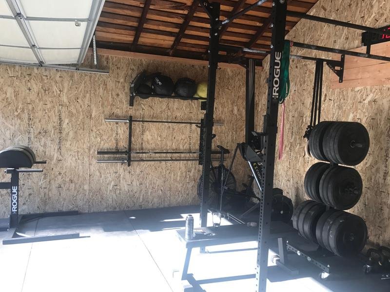 Rogue w 4 4 wall mount rig weight training custom set up