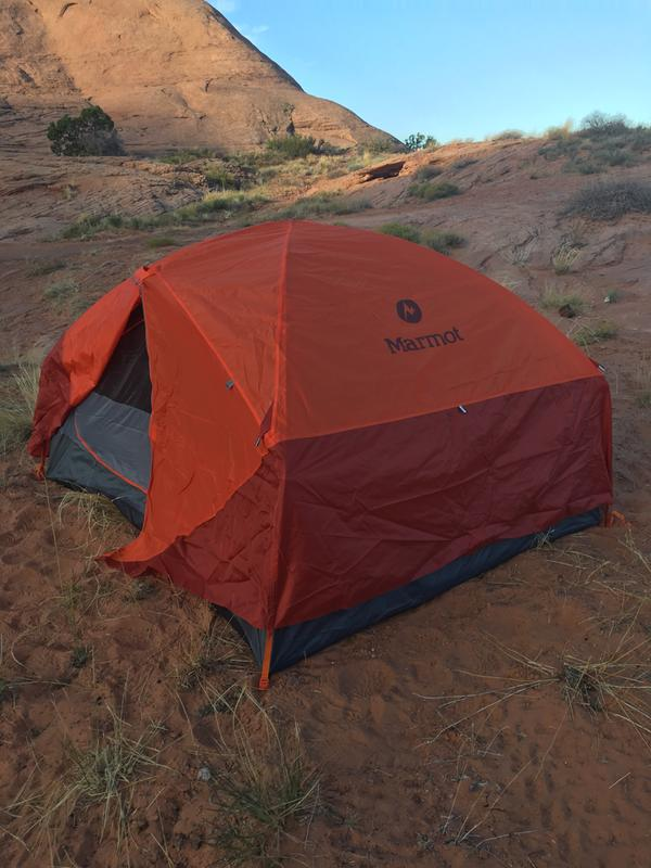 3P Marmot Tent on Hole in the Rock trail & Marmot Limelight 3P Tent with Footprint Reviews at REI