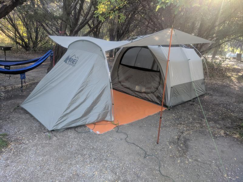 Garage/Porch w/adjustable tarp pole & REI Co-op Kingdom 4 Tent Reviews at REI