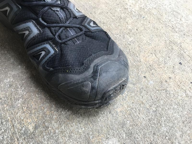 9501923fcbc The rubber toe cap does a great job of protecting your toes from rocks and  other