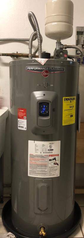 rheem residential electric water heaters  performance