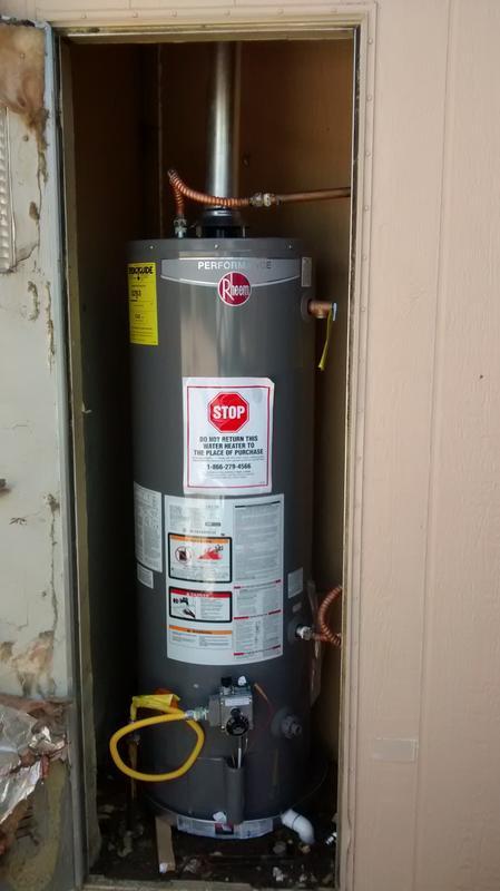Rheem - Performance Series: Atmospheric for Manufactured Housing on rheem water heater 30 gal mobile home, rheem water heater element, rheem tankless water heater, rheem models,