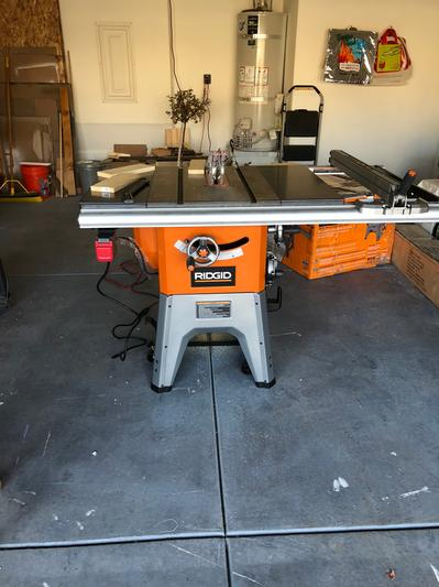 Cast Iron Table Saw Tools Ridgid