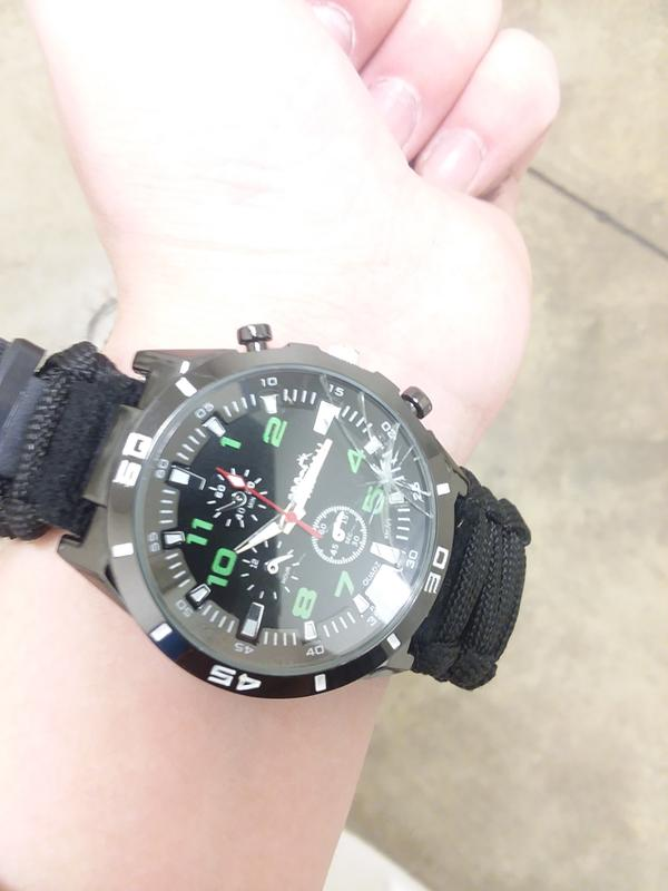 90953d0e1 Pro-4 Tactical Survival Watch with Fire Starter - 4752