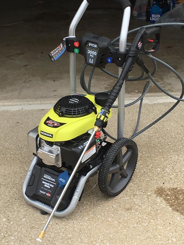 3000 Psi Honda Pressure Washer Ryobi Tools