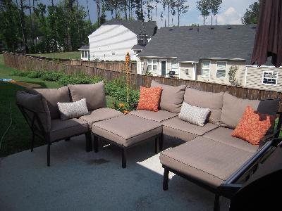 Mainstays Sandhill 7Piece Outdoor Sofa Sectional Set Seats 5