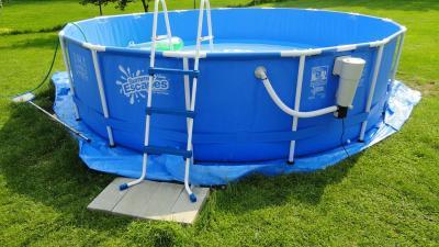 15ft metal frame pool set deluxe kit walmartcom