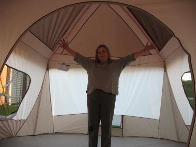 Wenzel 16u0027x11u0027 Klondike 8 Person 3 Season Screen Room C&ing Tent Blue | 36424 - Walmart.com  sc 1 st  Walmart & Wenzel 16u0027x11u0027 Klondike 8 Person 3 Season Screen Room Camping Tent ...