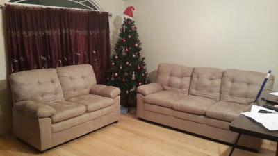 Mainstays Buchannan Sofa Grey Microfiber Walmart Com