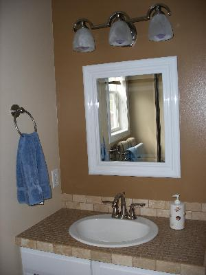 "Bathroom Mirror Walmart better homes and gardens 23""x27"" black beveled wall mirror"