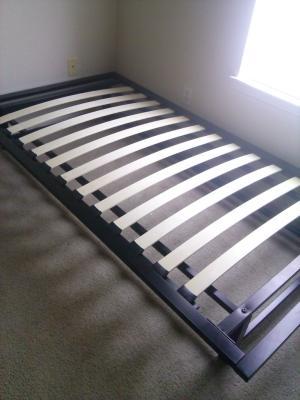 parsons twin metal ledge platform bed, black - walmart